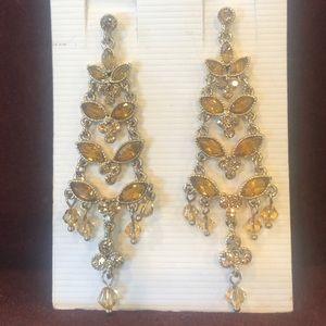 Nordstrom Victorian chandelier crystal earrings